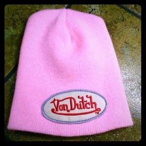 Von Dutch Barbie Pink Beenie/Ski Hat NWOT